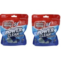 2X White King All In One Power Shots Bleach & Blue Cleaning 2PK 50g