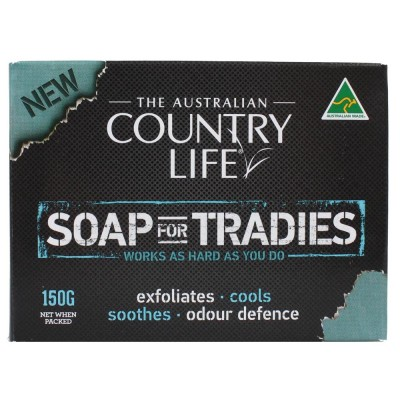 4x The Australian Country Life Soap For Tradies 150g