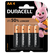 DURACELL AA Batteries Coppertop PK4
