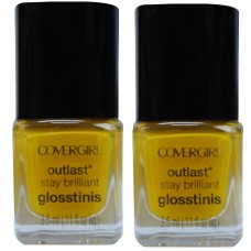 2X Covergirl Outlast Nail Polish 525 Lemon Drop 3.5mL