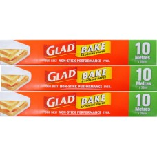 3X GLAD Bake & Cooking Paper 10m X 30cm