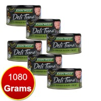 6X John West Deli Tuna Extra Virgin Olive Oil Blend & Pink Salt 180g