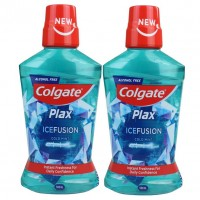 2X Colgate Plax Ice Fusion Cold Mint Mouthwash 500ml