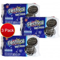 3X Recreo Festival Vanilla Cream Biscuits 360g