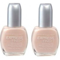 2X Maybelline Finish Nail Polish 35 Sheer Satin Slip 14.7mL
