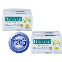 2X Palmolive Bath Soap Balanced & Chamomile Extracts 4PK