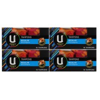 4X U By Kotex Regular Tampons 16PK