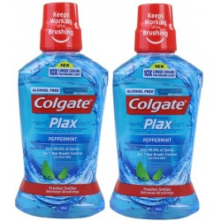 2X Colgate Plax Peppermint Mouthwash 500ml