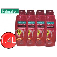 4X PALMOLIVE Natural Shampoo Vibrant Colour 350mL