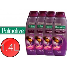 4X PALMOLIVE Natural Shampoo Smooth, Keratin & Argan Oil