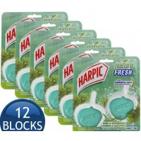 6X Harpic Hygienic Cageless Toilet Cleaner Block Rosemary PK2x40g