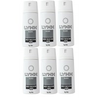 6x LYNX Antiperspirant Black Body Spray 96g