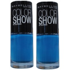2X Maybelline Colour Show Nail Polish 283 Babe Its Blue 7mL