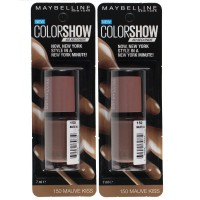 2x Maybelline Nail Polish Color Show #150 Mauve Kiss 7ml