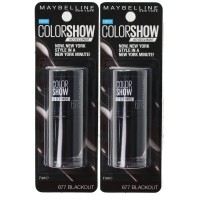 2x Maybelline Nail Polish Color Show 60 Seconds #677 Blackout 7ml