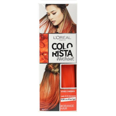 2X L'Oreal Colorista Washout Hair Dye Vivid Orange 80mL