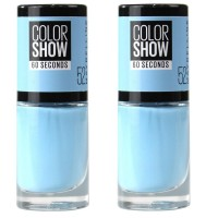 2x Maybelline Nail Polish Colour Show 60 Seconds #52 7mL