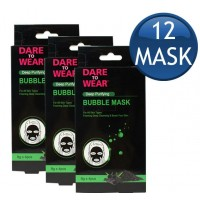 3X Dare To Wear Bubble Mask Detoxifying Charcoal Pk4 X 8g