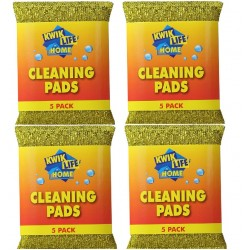 4X KWIK LIFE HOME Scourer Cleaning Pads PK5