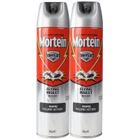 2X MORTEIN PowerGard Flying Insect Killer 300g
