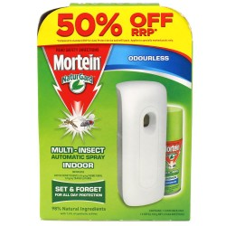 MORTEIN NaturGard Multi-Insect Automatic Spray Indoor Odourless