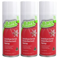 3X Bare Essentials Antibacterial Disinfectant Spray Floral Fragrance 300g