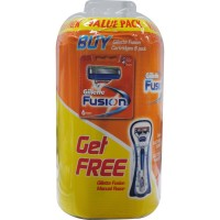Gillette Fusion Razor Value 6PK Cartridges + Razor