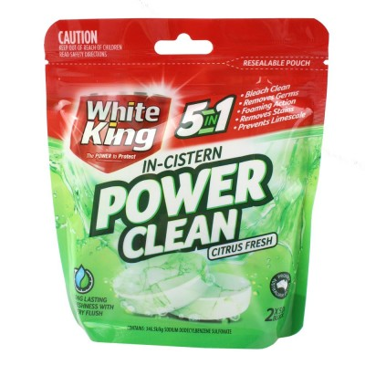 2X White King In-Cistern Bright White Power Shots 2PK 50g
