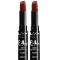 2X NYX Lipstick Full Throttle Waterproof #01 Con Artist 2.4g