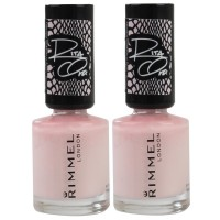 2x Rimmel London Nail Polish Rita Ora #202 Fit For A Princess