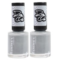 2X Rimmel London Nail Polish Rita Ora #807 My Grey