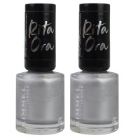2x Rimmel London Nail Polish Rita Ora #820 Zinc Me 8mL