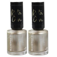 2x Rimmel Nail Polish Rita Ora #824 Metal On 8mL
