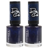 2x Rimmel London Nail Polish Rita Ora #902 Moonlight Magic