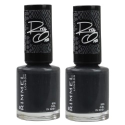 2x Rimmel Nail Polish Rita Ora #905 Girl In Grey 8mL