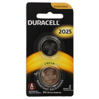 Duracell Lithium Batteries DL2025 / CR2025 PK2 3V