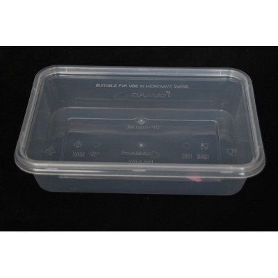 25X 500mL Disposable Plastic Food Containers And Lids
