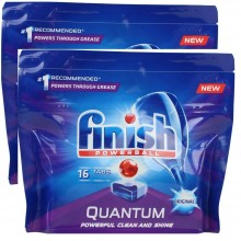 2X Finish PK16 Quantum Powerball Dishwashing Tablets Original