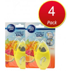 4X Ambi Pur Hang It Easy Air Fragrance Sunbeam Fruity 2PK