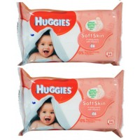 2X Huggies Baby Wet Wipes Alcohol Free Vitamin E unscented 56PK