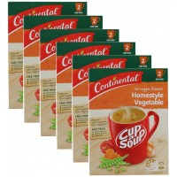 6X CONTINENTAL PK2 Cup Of Homestyle Vegetable Soup 50g