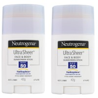 2X NEUTROGENA 42g Ultra Sheer Sunscreen Stick Face & Body SPF 50