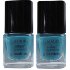 2X Covergirl Outlast Nail Polish 535 Blue Hawaiian 3.5mL