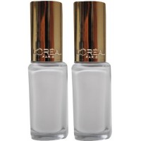 2X LOREAL Colour Riche Nail Polish 857 Chantilly Lace 5mL