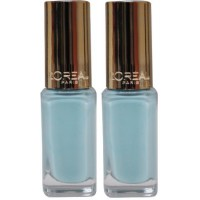 2X LOREAL Colour Riche Nail Polish #853 Menthe Glace 5mL