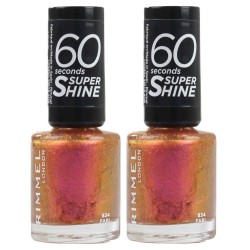 2x Rimmel Nail Polish 60 Seconds Super Shine #834 Fab 8mL