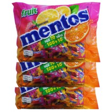 3X MENTOS PK110 Fruit Mentos Mix 297g
