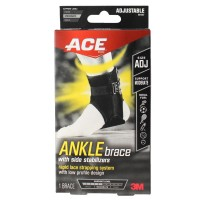 ACE Ankle Brace With Side Stabilisers Adjustable Size