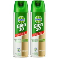 2X GLEN 20 Disinfectant Spray Original 175g