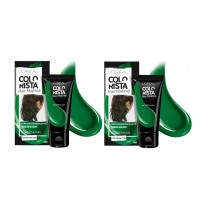 2X L'Oreal Paris Colorista Hair Dye Green 30ml